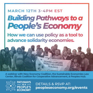 Building Pathways to. a People's Economy Launch Webinar